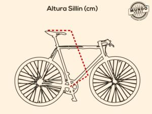 Altura sillin bicicleta urbana