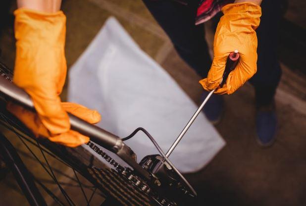 mantenimiento de bicicleta